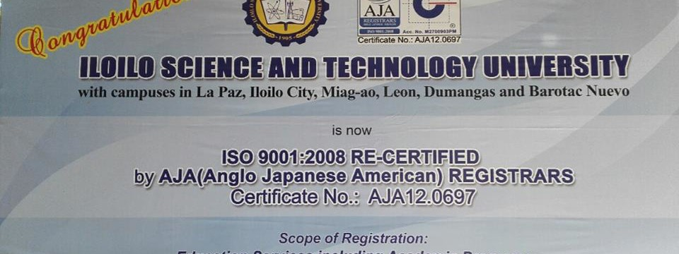 ISAT U Miagao Campus is now ISO Certified