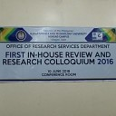 First In-House Review and Research Colloquium 2016