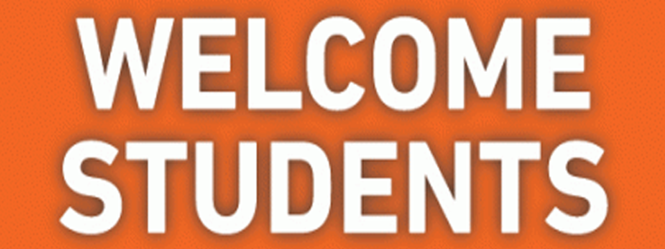 Welcome Students to the 2016-17 Academic Year