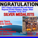 ISAT U Beach Volleyball Men and Women Regional SCUAA Silver Medalists