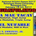 National SCUAA Games 2017 Medalist