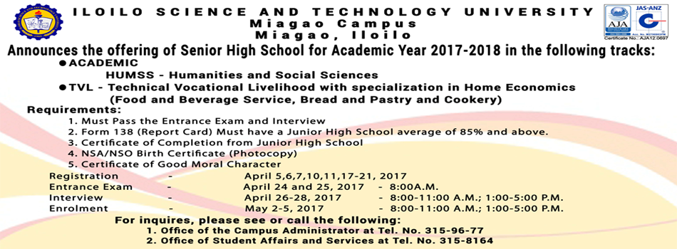Offering of Senior High School